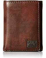Levi's  Men's  Trifold Wallet,Brown Stitch