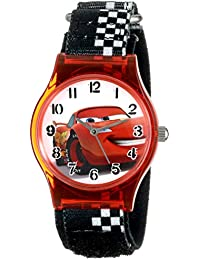 Kids' W001201 Cars Lightning McQueen Plastic Watch with Black Strap