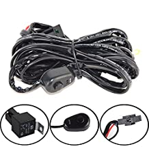 Willpower LED Light Bar Running Wiring Harness kit Relay,10ft 1 Lead 40 Amp Relay ON/OFF Switch for Offroad ATV Jeep Driving Light Fog Light Work Light