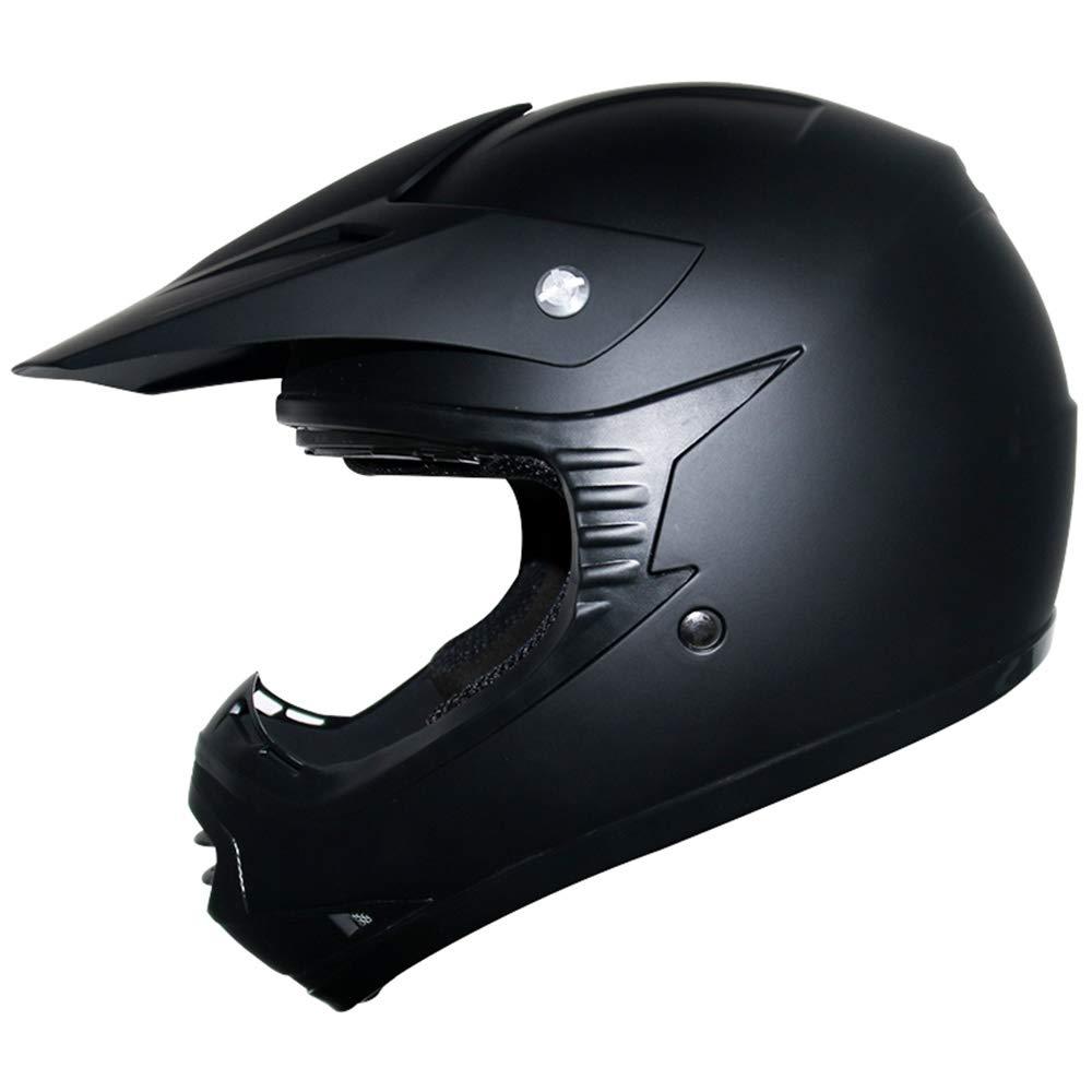 ATV Dirt Bike BMX Quad Off Road Helmet 53-54cm Matt Blue L Leopard LEO-X15 Kids Motocross Motorbike MX Helmet /& Gloves