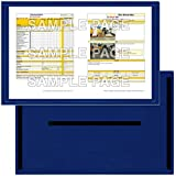 StoreSMART - Blue Document Frame (Window) - Magnetic - 11'' x 17'' pages - 10-Pack - R3871M-B-10
