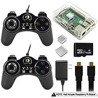 For Raspberry Pi 3B 2B Kodi XBMC RetroPie Emulation Station 16GB Micro SD Power Supply Case Game Heatsinks Retro Game Console from Elecrow