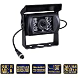 Bus Truck Backup Camera Heavy Duty Vehicle Rearview Reverse Waterproof Night Vision Camera for Trailer and Van RV Campers Motor home (Dual DC 12-24V)