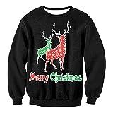 Zenicham Unisex Family Ugly Christmas Sweatshirt Funny Cute Sweater For Gift