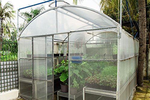 Greenhouse Plastic Film Clear Polyethylene 6 mil 4 year UV Resistant Cover (20 ft Wide x 25 ft Long) by Suncover