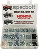 250pc Specbolt Honda Utility ATV Bolt Kit for Maintenance & Restoration OEM Spec Fasteners Quad Foreman 4x4 Rubicon GPScape Four Trax 4x4 Rancher Recon Rincon