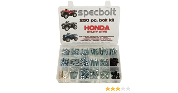 Specbolt Fasteners Brand 250pc Bolt Kit for Honda Utility ATV Quad Foreman 4x4 Rubicon GPScape Four Trax 4x4 Rancher Recon Rincon