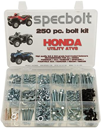 250pc Specbolt Honda Utility ATV Bolt Kit for Maintenance & Restoration OEM Spec Fasteners Quad Foreman