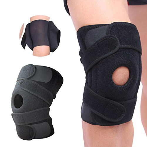(Knee Brace Support new version 2017 by AZUDAN - Great support for sports, gyms and outdoor activities - enhances knee elasticity and protects against traumatic injury)