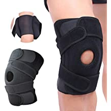 Knee Brace Support new version 2017 by AZUDAN - Great support for sports, gyms and outdoor activities - enhances knee elasticity and protects against traumatic injury