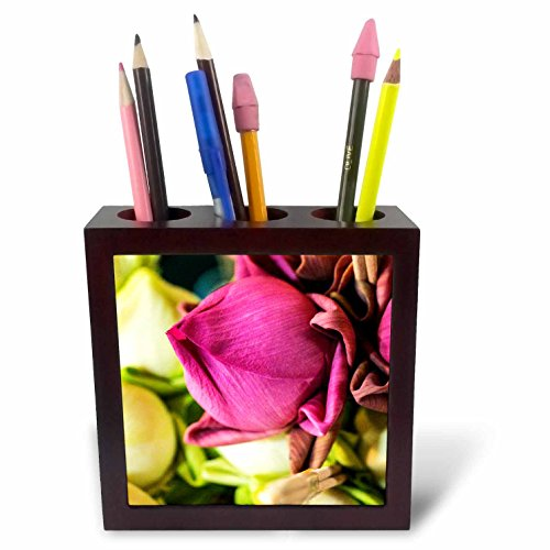 3dRose Danita Delimont - Flowers - Thailand, Chiang Mai, Flowers at the Thai Market Place - 5 inch tile pen holder (ph_276974_1) by 3dRose