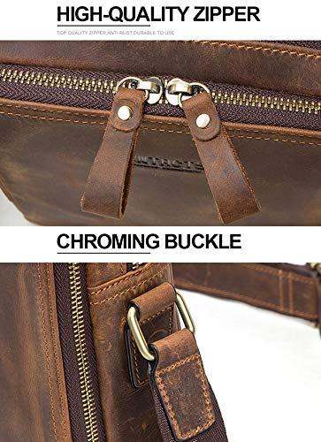 GF– herrväska herr axelväska retro läder handväska fritid resa 20 cm surfplatta datorväska