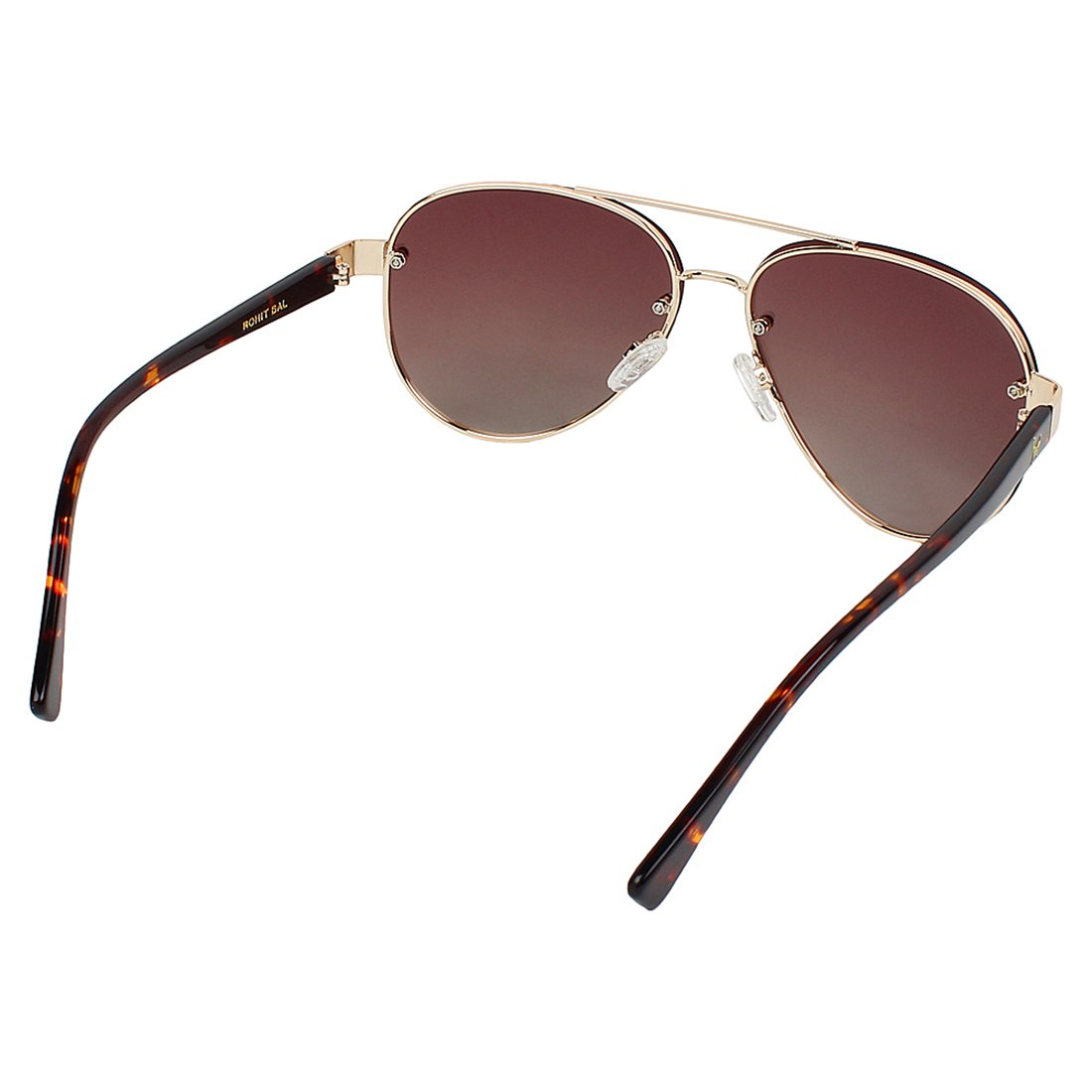 882bec0fd4 Rohit Bal Men s Double Bridge Aviator Sunglasses