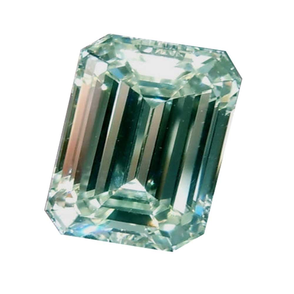 RINGJEWEL 2.03 ct VS1 Off White Ice Blue Color Emerald-Cut Loose Moissanite Use 4 Ring/pendant