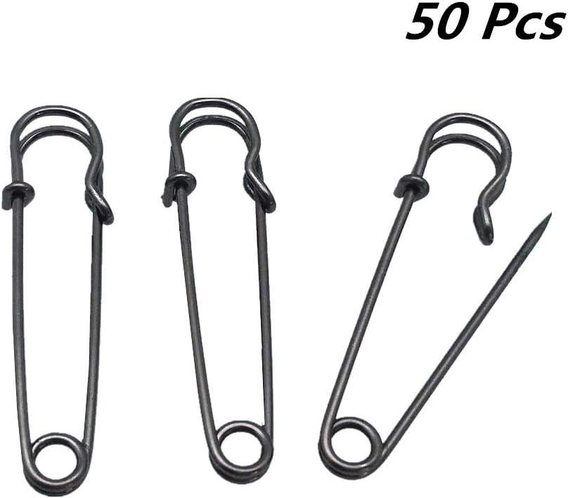 YEQIN Pack of 50 Dark Copper Black Kilt Safety Pins 38mm 1.5