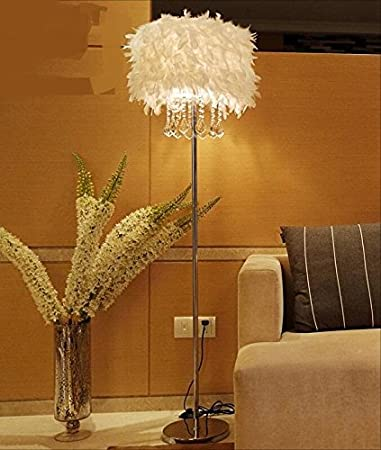 Feather Floor Lamp K9 Crystal Lamp Home Lighting Living Room Dining Room  Bedroom Stand Light White Part 96