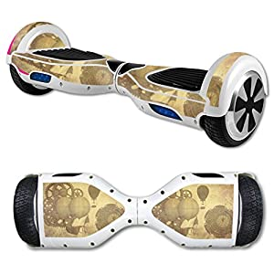 MightySkins Skin Compatible with Hover Board Self Balancing Scooter Mini 2 Wheel x1 Razor wrap Cover Sticker Steam Punk Paper