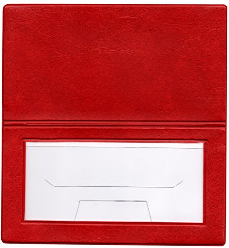 DIY Photo Checkbook Cover Photo Cover w/Check Register Embroidery Scrapbooking Stamping (Red)