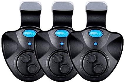 Electrónica pesca Indicador, nleader alarma de Pique para pesca LED alerta de sonido en caña de pesca pescador equipment & Supplies (3pcs) - HY00116, ...