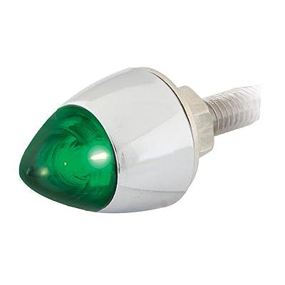 GG Grand General 50922 Green LED Lighted Bullet Fastener Set w/Cr. Housing: Automotive