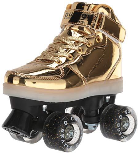 Pulse Skates Roller Skates Gold Size 8 -