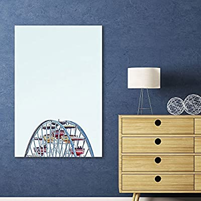 Majestic Visual, Ferris Wheel on White Background, Made to Last