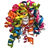 Jillson Roberts 6-Count Self-Adhesive Grosgrain Curly Bows Available in 15 Colors, Party Mix: more info
