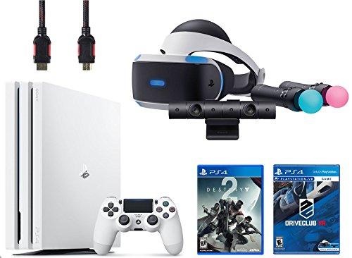 PlayStation VR Start Bundle 5 Items:VR Headset,Move Controller,PlayStation Camera Motion Sensor,PlayStation 4 Pro 1TB - Destiny 2 Bundle,VR Game Disc PSVR Drive Club by Sony VR