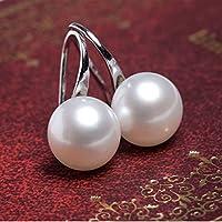Saengthong Delicate White Pearl Womens Drop Earrings Elegance Jewellery 20mm
