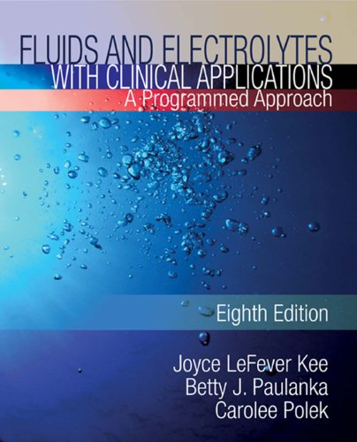 Fluids and Electrolytes with Clinical Applications Pdf