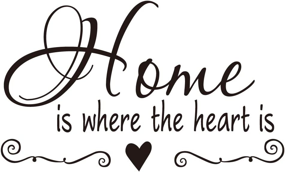 ZSSZ Home is Where The Heart is Room Décor Vinyl Wall Decal Family Quotes Art Letters