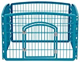 IRIS 24'' Exercise 4-Panel Pet Playpen with Door, Blue Moon