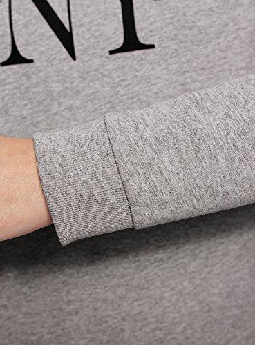 oodji Ultra Mujer Suéter de Algodón con Estampado Gris (2029Z)