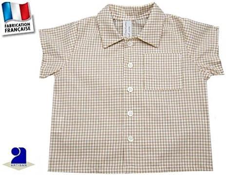 Camisa Niño Vichy beige beige beige Talla:126 cm 8 ans ...