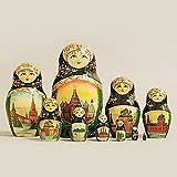 Russian Nesting Dolls Vyatskaya Matryoshka 10 pcs С-11 (63)