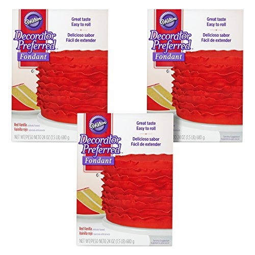 Wilton Decorator Preferred Red Fondant, Multipack of 3 -
