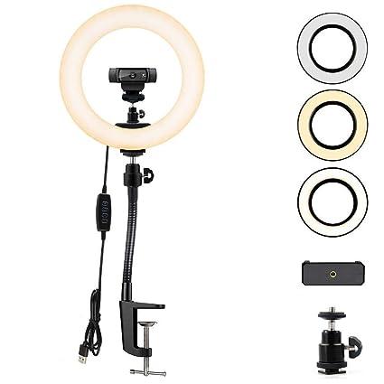 76e9b971f39 Amazon.com: Webcam Streaming Light, Ring Light with Stand for Logitech  Webcam C920,C922x,C930e,Brio 4K,C925e,C922,C930,C615-12 inches Light:  Camera & Photo