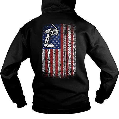 Price comparison product image Rc Cars Flag Sweatshirt - 50% Cotton, 50% Polyester - Gildan 8Oz Heavy Blend Hoodie Pullover (Large)