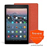 Fire HD 10 Protection Bundle with Fire HD 10 Tablet (64 GB, Black), Amazon Cover (Punch Red) and Protection Plan (3-Year)