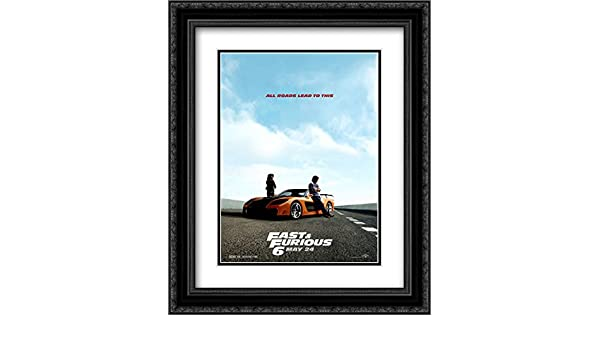 Amazon.com: Fast and Furious 6 20x24 Double Matted Black Ornate Framed Movie Poster Art Print: Posters & Prints