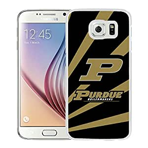 NCAA Purdue Boilermakers White Customize Samsung Galaxy S6 G9200 Phone Cover Case