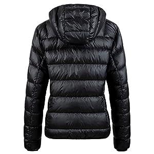 Wantdo Women's Hooded Packable Ultra Light Weight Short Down Coat(Black, Small)