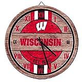 Wisconsin Badgers NCAA Barrel Wall Clock