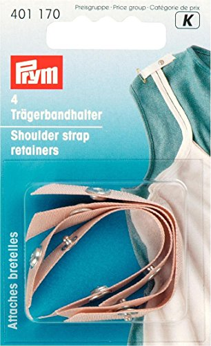 (PRYM 401170 Shoulder strap retainers flesh, 4 pieces)