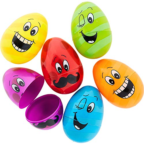 Funny Face Easter Eggs, 6 Ct. | Assorted Colors | Party Favor