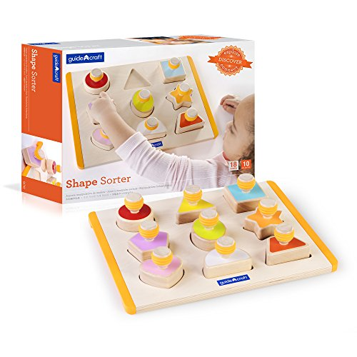 Guidecraft Shape Sorter - Educational and Learning Toys For Kids , Puzzle Board