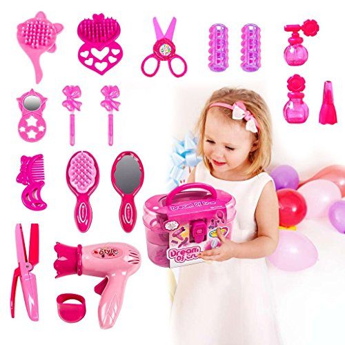 dress ups butefo pretend play make up kit for little girls kids beauty salon toys set with. Black Bedroom Furniture Sets. Home Design Ideas