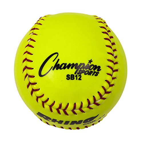 Champion Sports Leather Softball - Nfhs Leather Yellow
