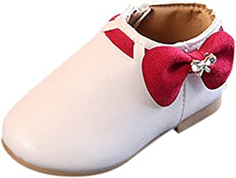 Pokeyula Shoes Toddler Infant Kids Baby Girls Fashion Princess Boots,Fur Lining Mix-Color High Heels Sneaker
