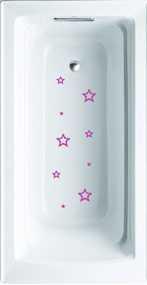 Stars Non-Slip Saftey Shower Or tub Grip Stickers (Pink) Wazel BTSSTA